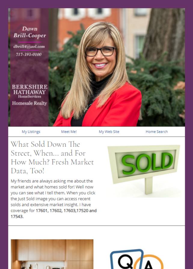 Real Estate Marketing Newsletter Example From An Agent At BHHS Berkshire Hathaway Home Services