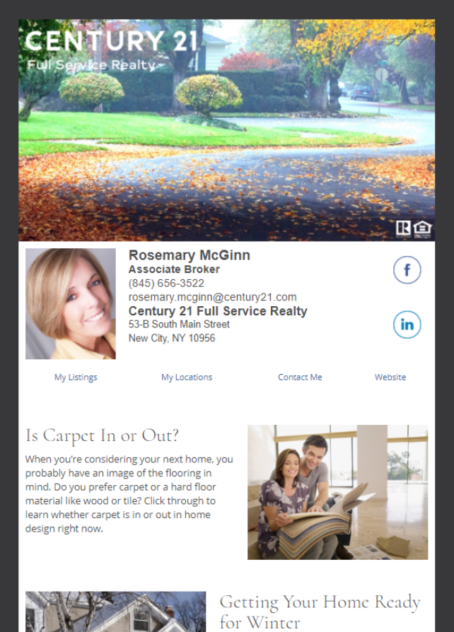 Real Estate Marketing Newsletter Example From An Agent At Century 21 Topsail Realty