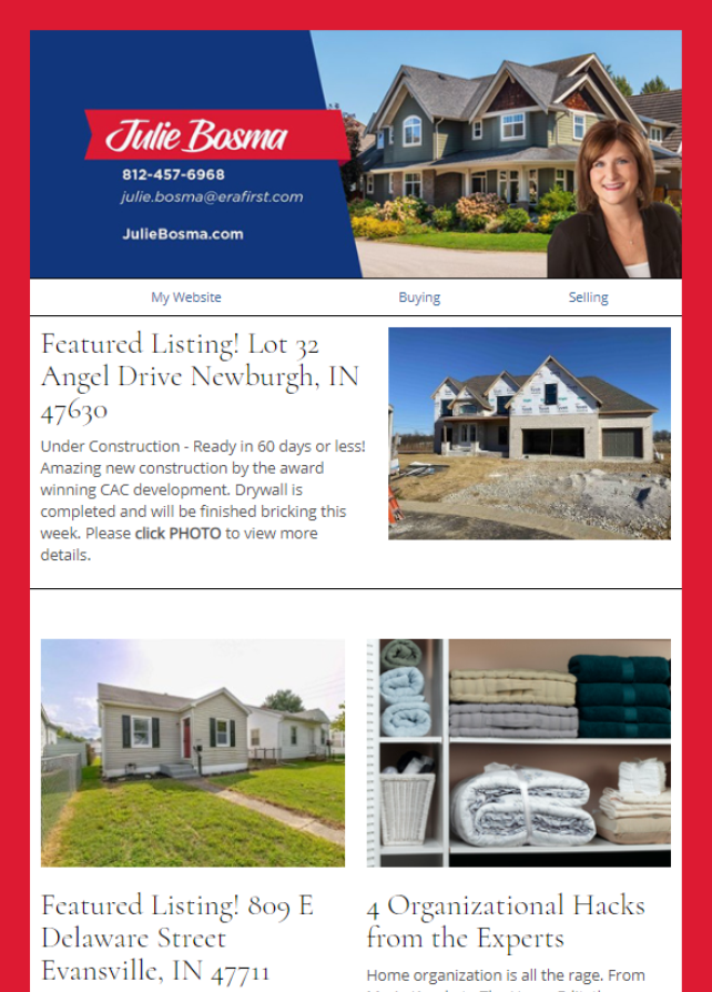 Real Estate Marketing Newsletter Example From An Agent At ERA Real Estate