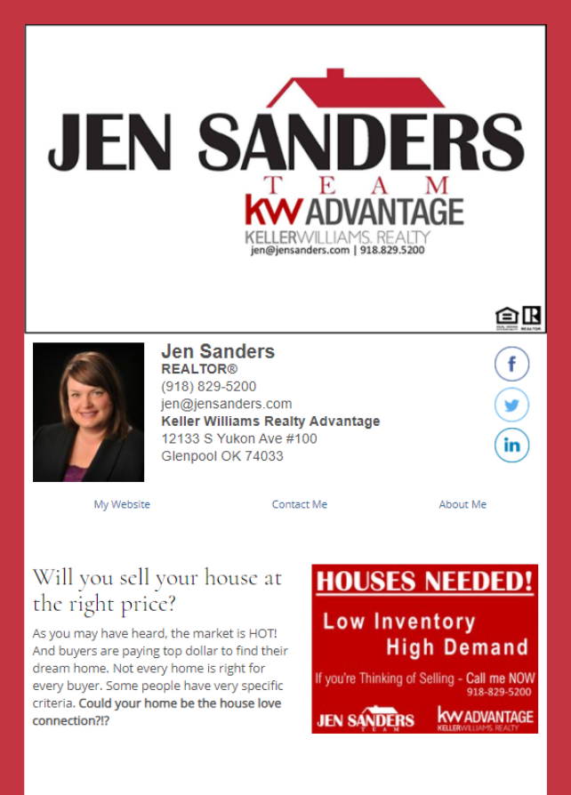 Real Estate Marketing Newsletter Example From An Agent At Keller Williams