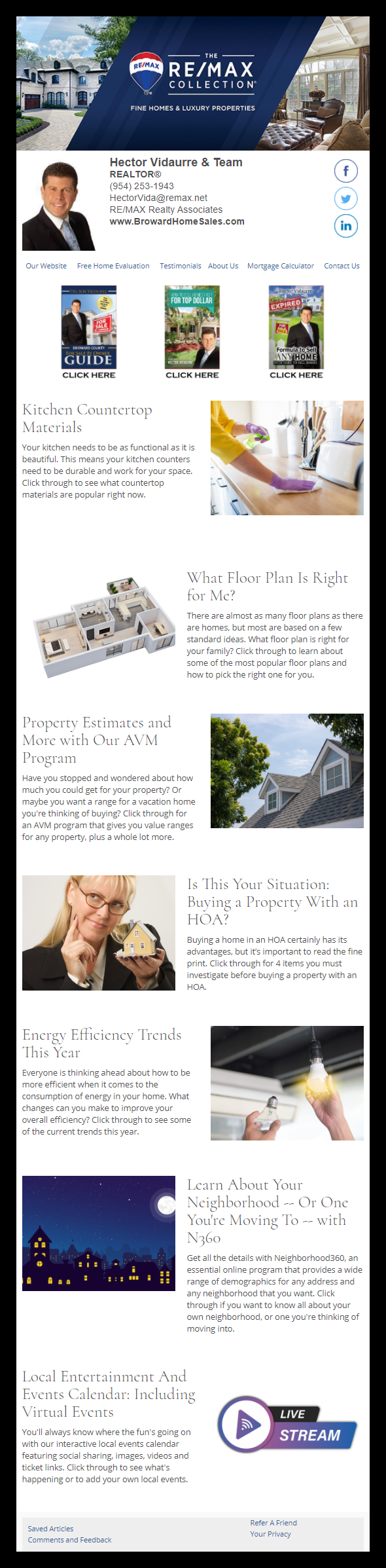 RE/MAX - HomeActions Sample Email Newsletter