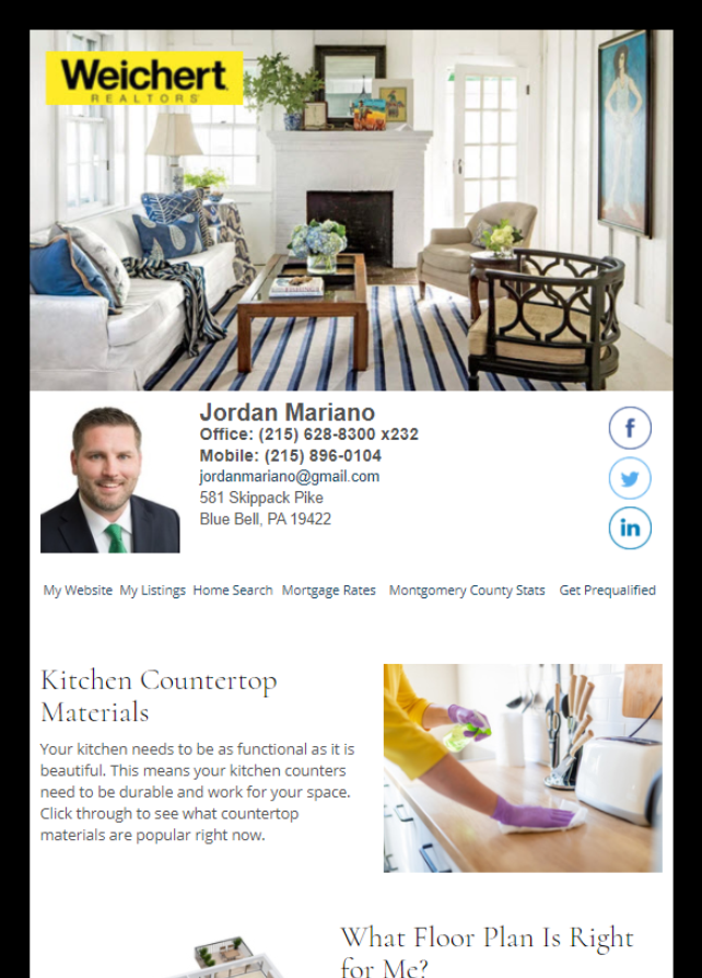 Real Estate Marketing Newsletter Example From An Agent At Weichert REALTORS®