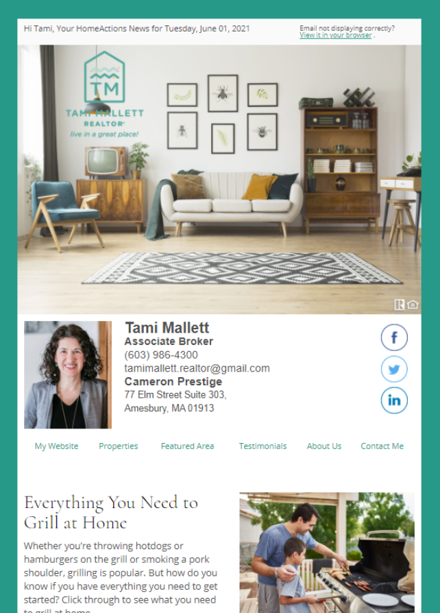 Real Estate Marketing Newsletter Example From An Agent At Nest Properties Austin